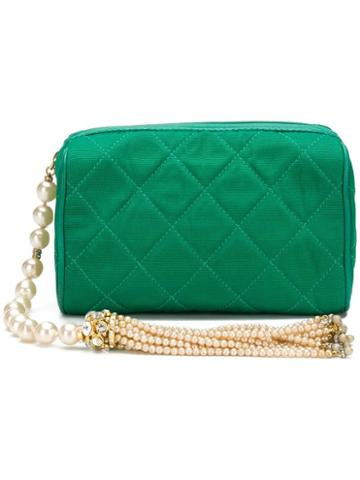 Chanel Pre-owned Pearl And Tassel Bag - Green
