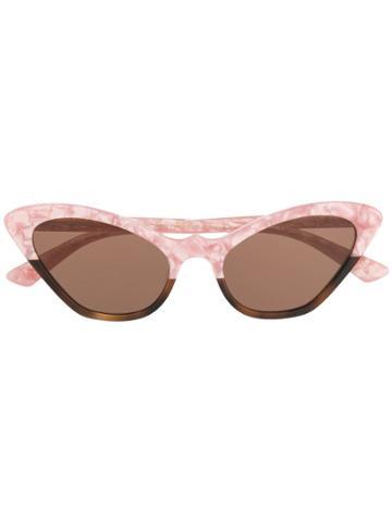 Mcq Alexander Mcqueen Cat-eye Frame Sunglasses - Pink