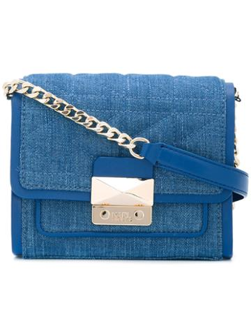 Karl Lagerfeld Quilted Crossbody Bag, Women's, Blue, Leather/cotton