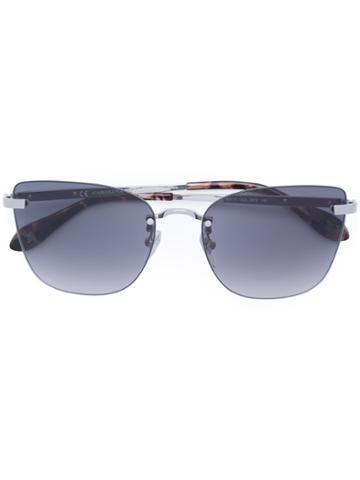 Carolina Herrera Rimless Aviator Sunglasses - Grey