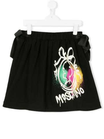 Moschino Kids Logo Patch Skirt - Black