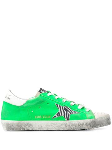 Golden Goose Deluxe Brand Lace Up Sneakers - Green