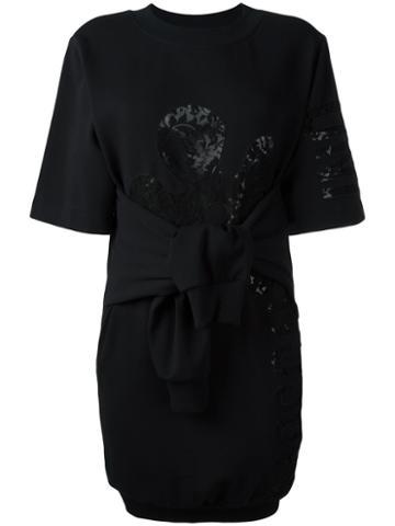 Moschino Knot Front Sweatshirt Dress, Women's, Size: 40, Black, Cotton/other Fibers