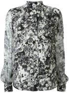 Lanvin Floral Print Shirt - Grey