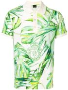Billionaire Leaf Print Polo Shirt - Green