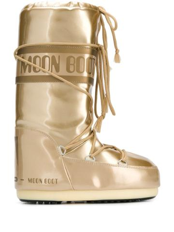 Moon Boot Mid-calf Snow Boots - Gold