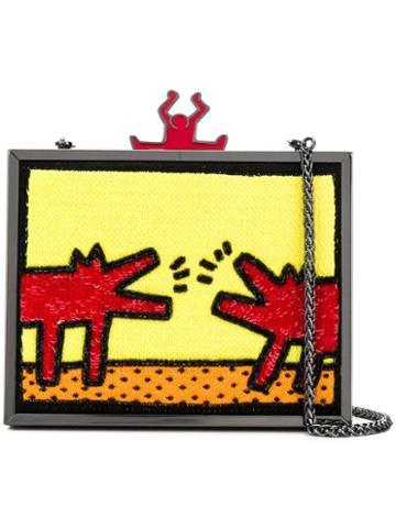 Alice+olivia Alice+olivia X Keith Haring Clutch Bag - Yellow