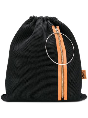 Mm6 Maison Margiela Mesh Drawstring Backpack - Black