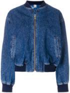 Kenzo Vintage Denim Bomber Jacket - Blue