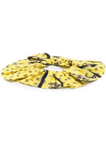 Ganni Paisley Print Scrunchy' - Yellow