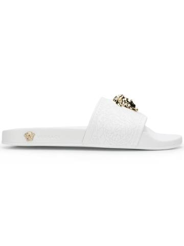 Versace Medusa Rubber Slides - White