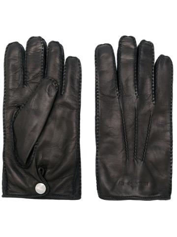 Alexander Mcqueen Logo Embossed Gloves - Black