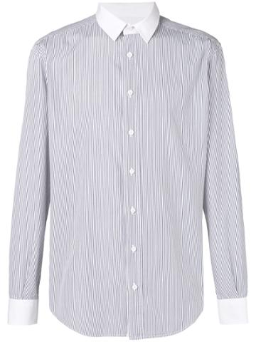 Dolce & Gabbana Vintage Pin Stripe Formal Shirt - Blue