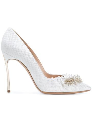 Casadei Embellished Perfect Pump Pumps - White