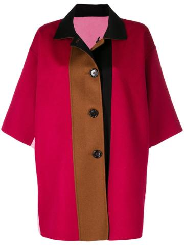 Marni Reversible Wool Coat - Pink