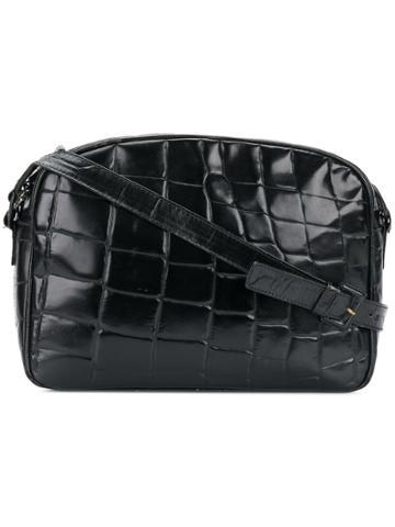 Prada Vintage Crocodile Effect Shoulder Bag - Black