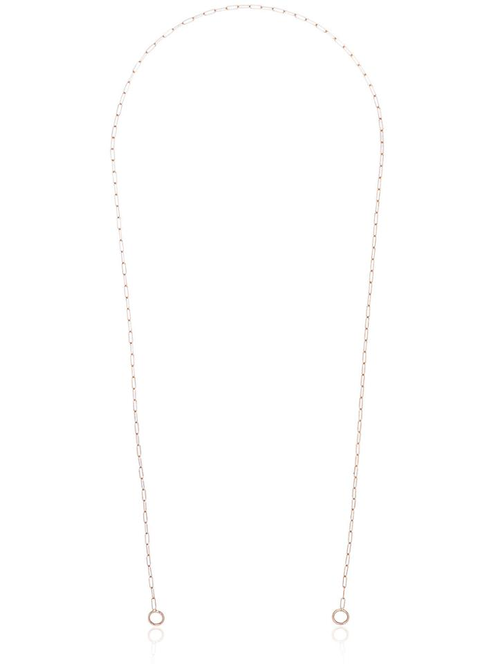 Marla Aaron Rose Gold 22 Square Link Chain - Metallic
