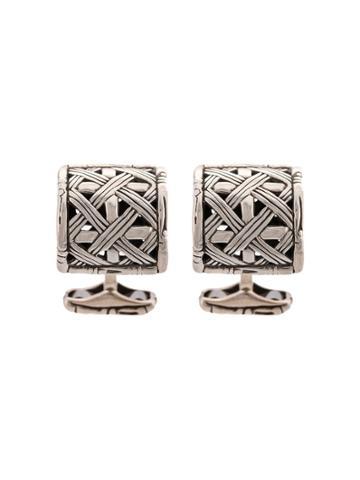 John Hardy Bamboo Cufflinks - Silver