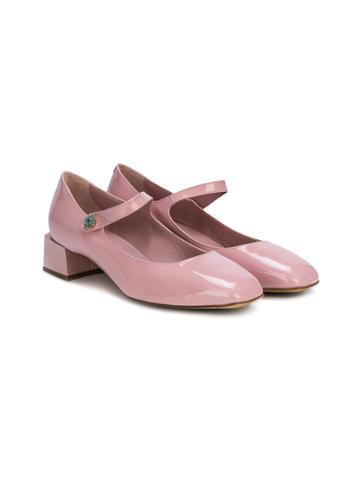 Dolce & Gabbana Kids Mary Jane Ballerinas - Pink & Purple