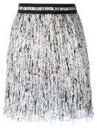 Carven Printed Pleated Skirt