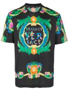 Versace Beverly Palm Print T-shirt - Multicolour