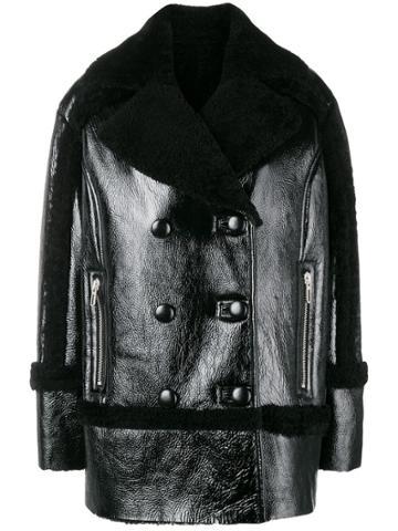Drome Shearling Collar Jacket - Black