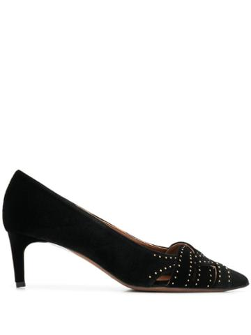 L'autre Chose Velvet Pointed Pumps - Black