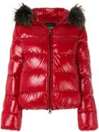 Duvetica Padded Hooded Jacket - Red