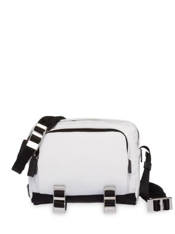 Prada Technical Fabric Messenger Bag - White
