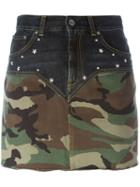 Saint Laurent Camouflage Denim Shorts