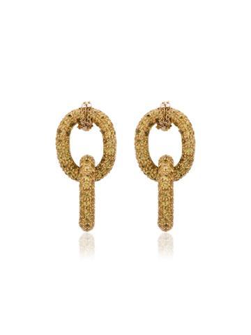 Carolina Bucci 18k Yellow Gold Chain Earrings - Metallic