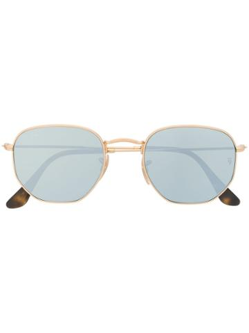 Ray-ban Rounded Frame Sunglasses - Gold