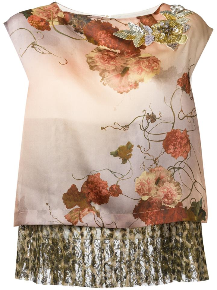 Antonio Marras Layered Sleeveless Top - Pink & Purple
