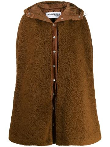 Courrèges Sleeveless Coat - Brown