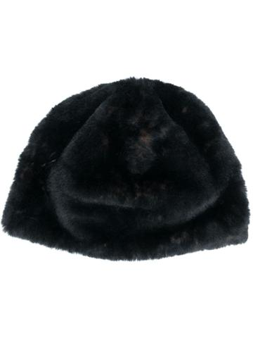 Bellerose Furry Beanie - Black