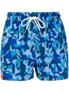 Sun 68 Camouflage-print Swim Shorts - Blue