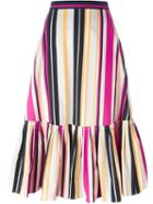 Salvatore Ferragamo Striped Skirt