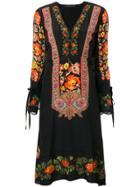Etro Embroidered Midi Dress - Black