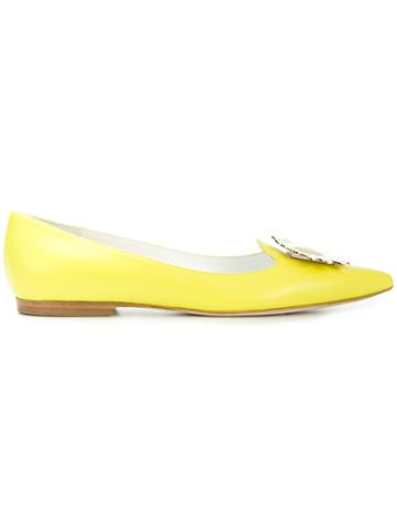 Emilio Pucci Embellished Slippers - Yellow & Orange