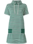 Sacai Hooded Striped Dress - Green