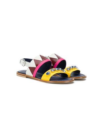 Marni Kids Teen Embellished Sandals - Yellow