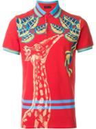 Etro Giraffe Print Polo Shirt