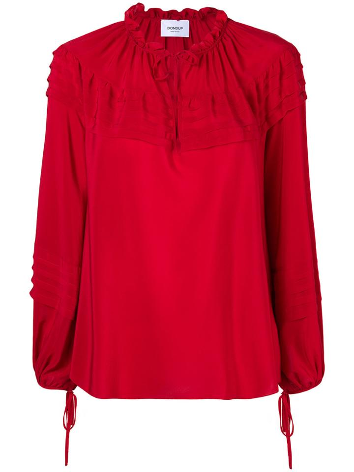Dondup Pintucked Trim Blouse - Red