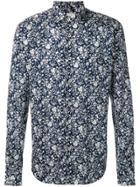 Xacus Floral Print Shirt - Blue