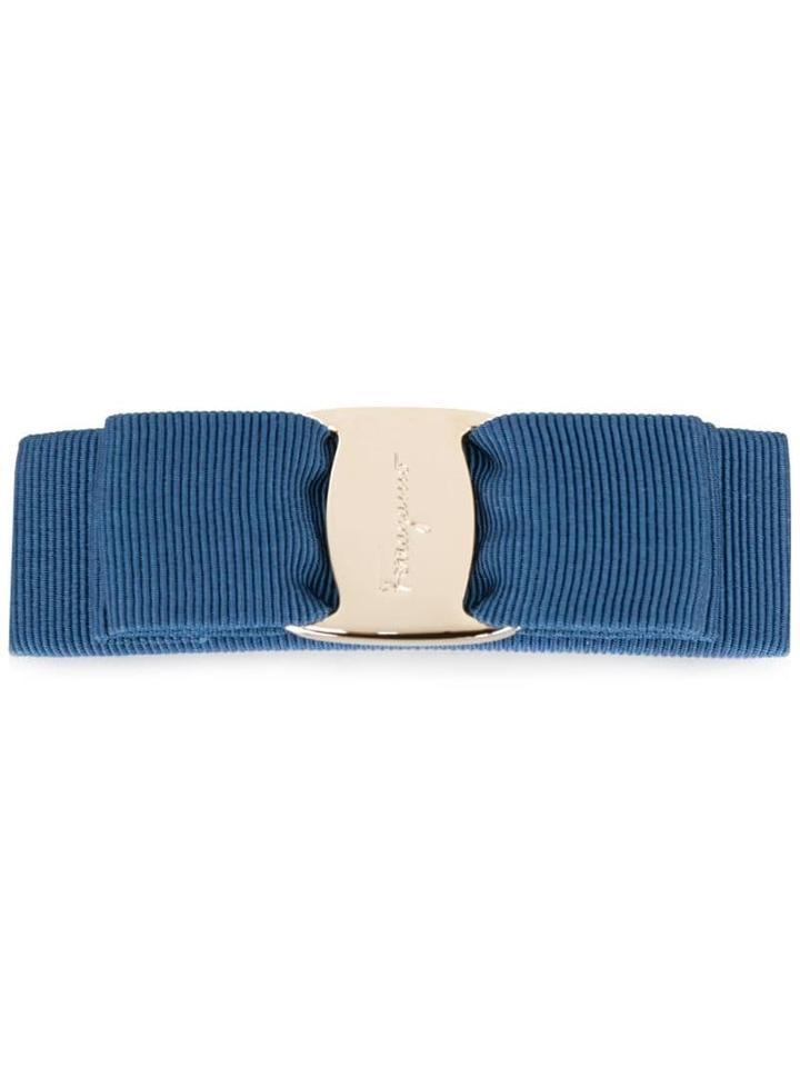 Salvatore Ferragamo Vara Bow Hair Clip - Blue