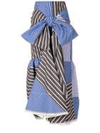 Marni Striped Tie Front Midi Skirt - Multicolour