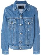 Diesel Distressed Denim Jacket - Blue