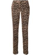 P.a.r.o.s.h. Leopard Print Skinny Trousers - Brown
