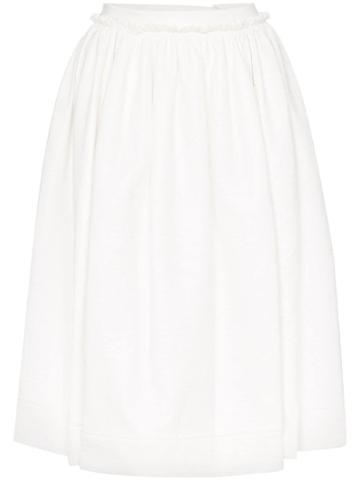 Marni Midi Circle Skirt - White