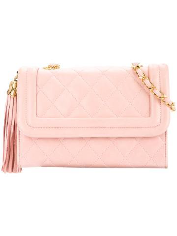 Chanel Vintage Matelasse Stitch Tassel Bag - Pink & Purple